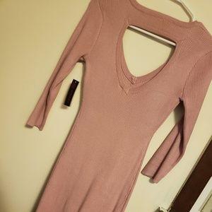 Sweater dress maxi